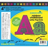 Barker Creek 4 Rainbow Chalkboard Letter Pop-Outs & Poster Letters, 234 characters/Pack