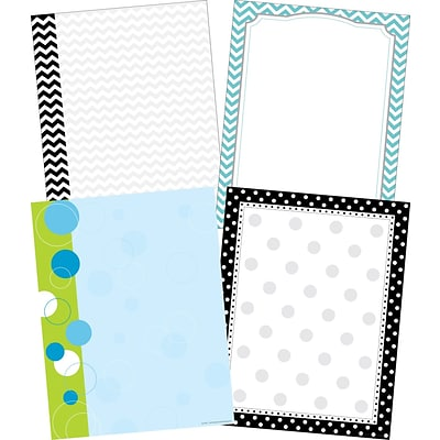 Barker Creek Chevron & Dots Computer Paper, 8.5 x 11, 50 sheets EA of four designs, 200 sheets/Set