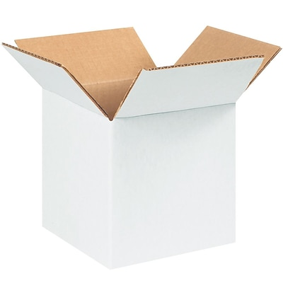 777W White 7 x 7 Kraft Corrugated Boxes, 25/Bundle
