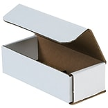 Partners Brand Corrugated Mailers, 7 x 3 x 1, White, 50/Bundle (M731)