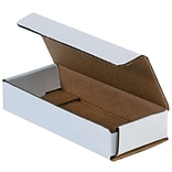6(L) x 9(W) x 1(H) Shipping Boxes, 32 ECT, White, 50 /Bundle(MLR961)