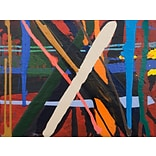 GreenBox Art Abstract Plaid 2 by Marie Kazalia Painting Print on Wrapped Canvas
