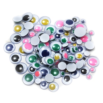 Charles Leonard Creative Arts™ Round Wiggle Eyes; Assorted Colors/Sizes, 8/Pack