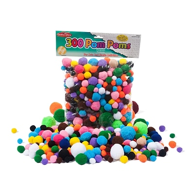 Charles Leonard Pom-Poms, Assorted Sizes & Colors, 300 ct. (CHL69330)