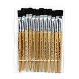 Easel Paint Brushes With 1/2 Stubby Handle