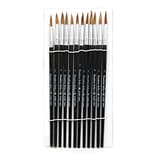 Charles Leonard Round Water Color Paint Brushes With Pointed Handle; Camel Hair Bristle, #7, 5/Pack