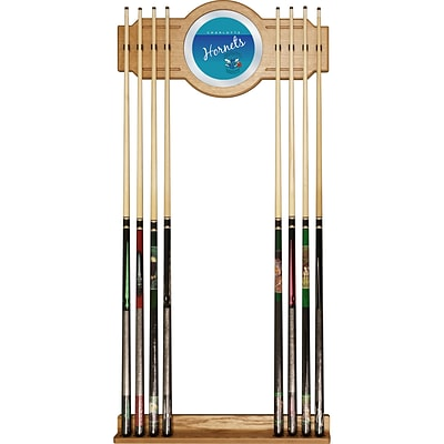 Trademark Global NBA NBA6000HC-CH Cue Rack with Mirror; Charlotte Hornets