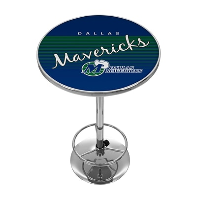 Trademark Fine Art NBA NBA2000HC-DM 42 Metal Chrome Pub Table; Dallas Mavericks
