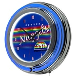 Trademark Global NBA Hardwood Classics NBA1400HC-DN 14.5 Blue Double Ring Neon Clock, Denver Nuggets