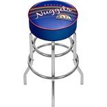 Trademark Global NBA Hardwood Classics NBA1000HC-DN Steel Padded Swivel Bar Stool, Denver Nuggets