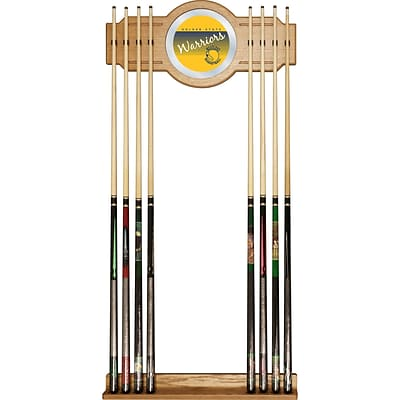 Trademark Global NBA NBA6000HC-GSW Cue Rack with Mirror; Golden State Warriors