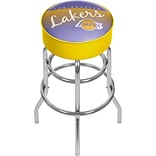 Trademark Global NBA Hardwood Classics Steel Padded Swivel Bar Stool, Los Angeles Lakers