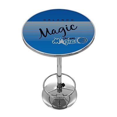 Trademark Fine Art NBA NBA2000HC-OM 42 Metal Chrome Pub Table; Orlando Magic