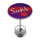 Trademark Fine Art NBA NBA2000HC-PS 42 Metal Chrome Pub Table; Phoenix Suns