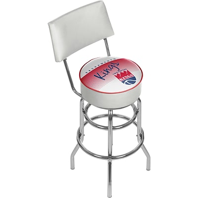 Trademark Global NBA Hardwood Classics NBA1100HC-SK Steel Bar Stool with Back, Sacramento Kings