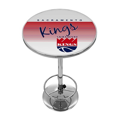 Trademark Fine Art NBA NBA2000HC-SK 42 Metal Chrome Pub Table; Sacramento Kings