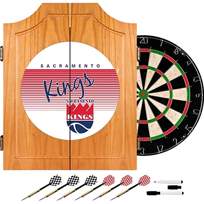 Trademark Global NBA NBA7000HC-SK Wood Dart Cabinet Set; Sacramento Kings