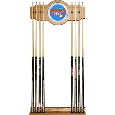 Trademark Global NBA NBA6000HC-SDC Cue Rack with Mirror; San Diego Clippers