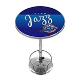 Trademark Fine Art NBA NBA2000HC-UJ 42 Metal Chrome Pub Table; Utah Jazz