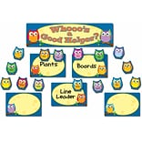 Carson-Dellosa Colorful Owls Job Assignment Bulletin Board Set, 45 Pieces/Set