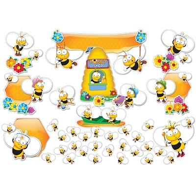 Carson-Dellosa Buzz Worthy Bees Bulletin Board Set, 67 Pieces/Set