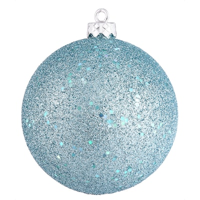 Vickerman Sequin Ball Ornament; Baby Blue