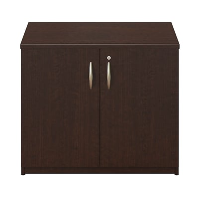 Bush Business Westfield Elite 36W Storage Cabinet, Mocha Cherry, Installed