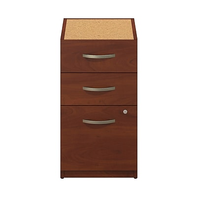 Bush Business Westfield Elite 16W 3-Drawer Pedestal, Hansen Cherry, Pre Assembled