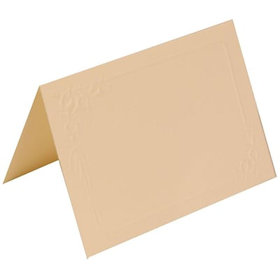 JAM Paper® Placecards, 2.5 x 3.5, Ivory Lily Wedding Place Cards, 250/box (312625288)
