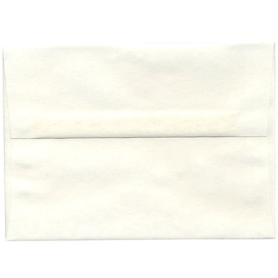 JAM Paper® A7 Invitation Envelopes, 5.25 x 7.25, Parchment White Recycled, 50/pack (12672I)