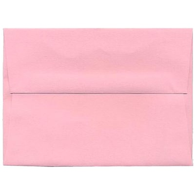 JAM Paper® A6 Invitation Envelopes, 4.75 x 6.5, Brite Hue Baby Pink, 250/box (155625H)