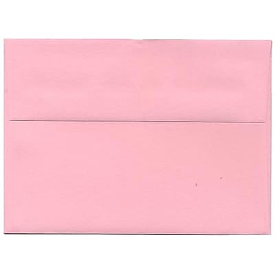 JAM Paper® A7 Invitation Envelopes, 5.25 x 7.25, Brite Hue Baby Pink, 250/box (155627H)
