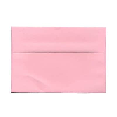 JAM Paper® A9 Invitation Envelopes, 5.75 x 8.75, Baby Pink, 50/pack (155698I)