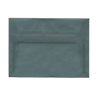 JAM Paper® A7 Invitation Envelopes, 5.25 x 7.25, Ocean Blue Translucent Vellum, 50/pack (1591743I)