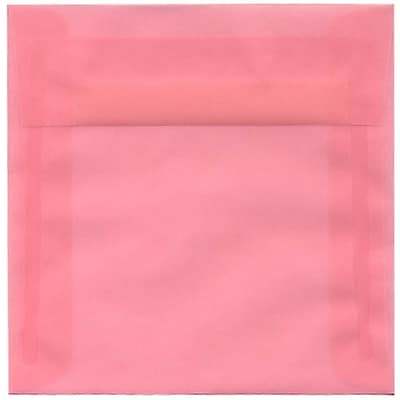 JAM Paper® 6 x 6 Square Envelopes, Blush Pink Translucent Vellum, 250/box (1591931H)
