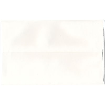 JAM Paper® A10 Invitation Envelopes, 6 x 9.5, Strathmore Bright White Wove, 50/Pack (191220I)