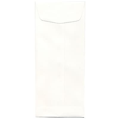 JAM Paper® #11 Policy Envelopes, 4 1/2 x 10 3/8, Strathmore Bright White Wove, 500/box (191251H)