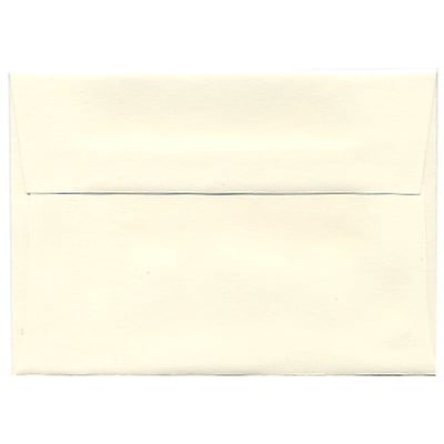 JAM Paper® 4bar A1 Envelopes, 3 5/8 x 5 1/8, Strathmore Natural White Wove, 250/box (194891H)