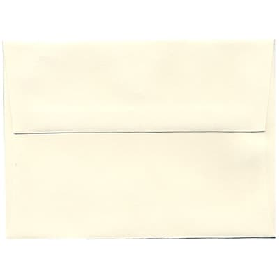 JAM Paper® A6 Invitation Envelopes, 4.75 x 6.5, Strathmore Natural White Wove, 250/box (30243H)