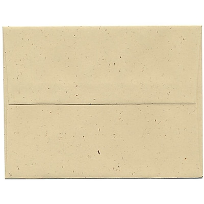 JAM Paper® A2 Invitation Envelopes, 4 3/8 x 5 3/4, Husk Brown Recycled, 50/pack (3180I)