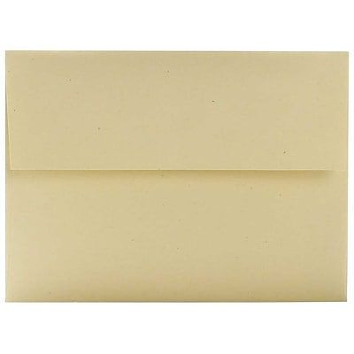 JAM Paper® A6 Recycled Invitation Envelopes, 4.75 x 6.5, Genesis Husk, 50/Pack (3198I)