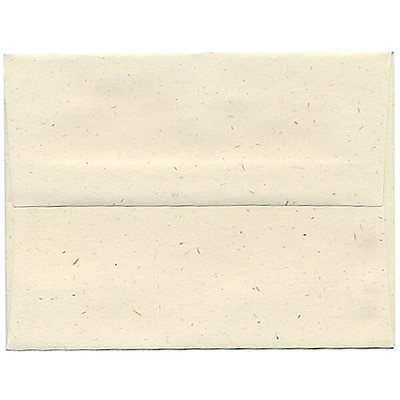 JAM Paper® A2 Invitation Envelopes, 4 3/8 x 5 3/4, Milkweed Ivory Recycled, 250/box (3271H)