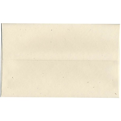 JAM Paper® A10 Recycled Invitation Envelopes, 6 x 9.5, Milkweed Genesis, Bulk 250/Box (3313H)