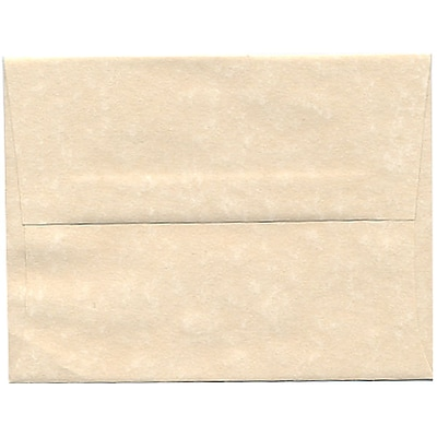 JAM Paper® A2 Invitation Envelopes, 4 3/8 x 5 3/4, Parchment Natural Recycled, 50/pack (34777I)