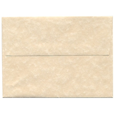JAM Paper® A6 Invitation Envelopes, 4.75 x 6.5, Parchment Natural Recycled, 50/pack (34926I)