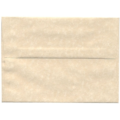 JAM Paper® A7 Invitation Envelopes, 5.25 x 7.25, Parchment Natural Recycled, 50/pack (35394I)