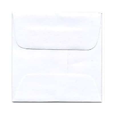 JAM Paper® 2 3/8 x 2 3/8 Mini Square Envelopes, White, 250/box (3993004H)