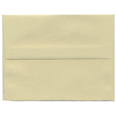 JAM Paper® A2 Invitation Envelopes, 4 3/8 x 5 3/4, Gypsum Recycled, 250/box (41338H)