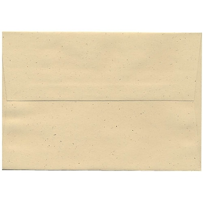 JAM Paper® A8 Invitation Envelopes, 5.5 x 8.125, Husk Brown Recycled, 50/pack (44362I)