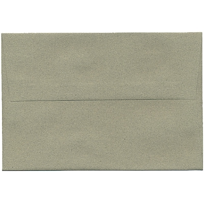 JAM Paper® A8 Invitation Envelopes, 5.5 x 8.125, Sage Green Recycled, 250/box (49181H)